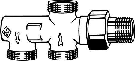 IMI Heimeier Двухтрубный клапан Duolux DN 15, m Absperrung-Voreinstell., RG vn 3801-02.000
