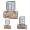 Клапан с вентилем / с пневматическим управлением / для остановки / из бронзы