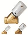 Клапан с вентилем / с пневматическим управлением / для остановки / из латуни