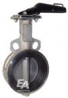 Клапан дроссельная заслонка / ручной / для воды / из нержавеющей стали
