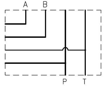 """EC5412P - Плита для батарейного монтажа, СЕТОР05; резьбовые отверстия Р и Т =G1/2"""", A-B резьбовые каналы сзади = G1/2"""""""